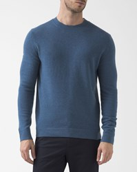 Theory Flecked Blue 100 Cashmere Crew Neck Donners Pullover