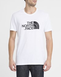 The North Face White Easy Tee Logo Ss Round Neck T Shirt