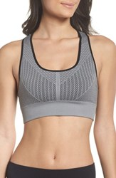 Climawear Elevation Racerback Bra Grey And Black W Black