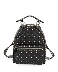Valentino Garavani Rockstud Spike Small Backpack Black