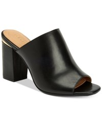Calvin Klein Women's Cicelle Peep Toe Mules Women's Shoes Black