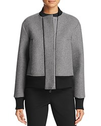 Dkny Pure Color Block Bomber Jacket Flint