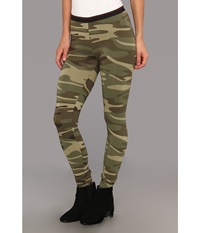Alternative Apparel Printed Skinny Legging Camo Women's Casual Pants Multi