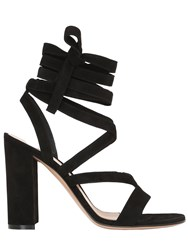 Gianvito Rossi 100Mm Lace Up Suede Sandals