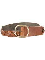 Gucci Woven Belt Men Leather 105 Nude Neutrals