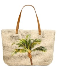 Styleandco. Style Co. Palm Tree Straw Beach Bag Tote Only At Macy's
