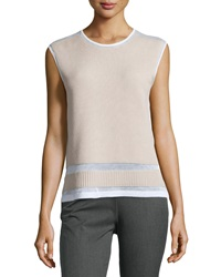 L.A.M.B. Bonded Sleeveless Sweater White Oyster