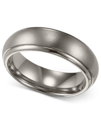 Triton Men's Titanium Ring Comfort Fit Wedding Band 6Mm