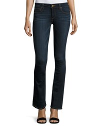 Paige Manhattan Slim Boot Cut Jeans Navy