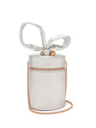 Sophia Webster Bonnie Metallic Leather Cylinder Bag Silver