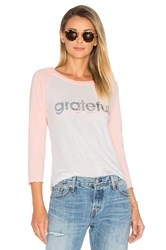 Spiritual Gangster Grateful Long Sleeve Tee Peach