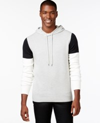 Sean John Colorblocked Hoodie Sweater Grey Mix Heather
