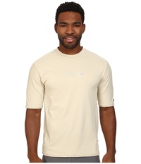 O'neill Skins Short Sleeve Rash Tee Shell Men's Swimwear Beige