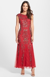 Pisarro Nights Beaded Mermaid Dress Regular And Petite Red