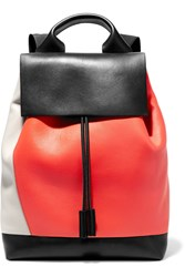 Marni Pod Color Block Leather Backpack Black
