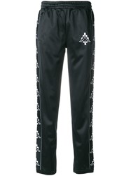 Marcelo Burlon County Of Milan Kappa Print Track Pants Black