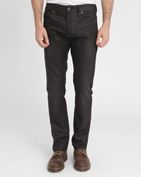G Star Black Attacc Coated Straight Jeans