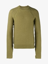 Maison Martin Margiela Heavy Gauge Wool Knit Sweater Green Black