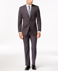 Andrew Marc New York Marc New York By Andrew Marc Slim Fit Gray Mini Stripe Suit