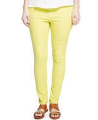 Violeta By Mango Plus Size Jeggings Colored Wash Yellow