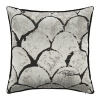 Roberto Cavalli Silver And Gold Bed Cushion 40X40cm Silver
