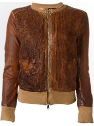 Giorgio Brato Textured Leather Jacket Brown