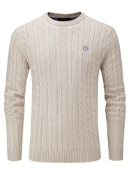 Henri Lloyd Men's Kramer Regular Crew Neck Knit Jumper Salmon