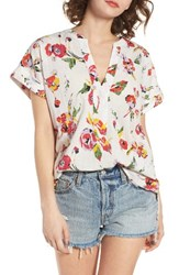 Obey Women's Desi Floral Print Tunic Top