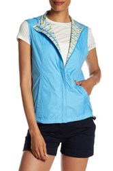 Peter Millar Reversible Wave Print Vest Blue