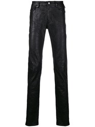 Zadig And Voltaire Fashion Show Crinkle Effect Leather Trousers Black
