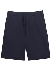 Sunspel Navy Cellulock Cotton Shorts