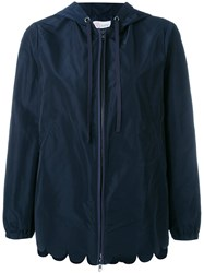 Red Valentino Scallop Hem Jacket Blue