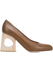 Marni Cut Out Heel Pumps Brown