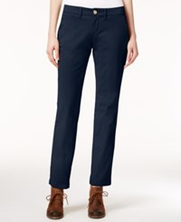 Tommy Hilfiger Montauk Straight Leg Chino Pants Only At Macy's Masters Navy