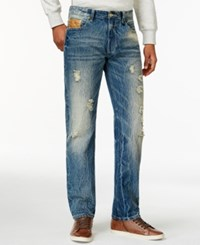 Sean John Snowblasted Straight Fit Jeans