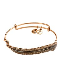 Alex And Ani Quill Feather Bangle Bracelet Gold