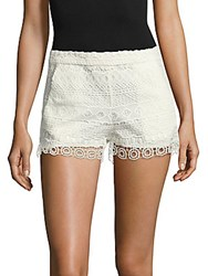 French Connection Castaway Stripe Lace Shorts Summer Wash