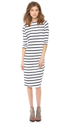 Elevenparis Basic Dress White Navy