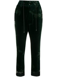 Di Liborio Bleached Crushed Style Trousers Green