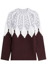 Peter Pilotto Wool Intarsia Knit Pullover Multicolor