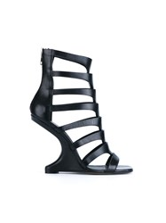 Rick Owens Nautilus Cantilevered Sandals Black