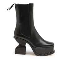 Loewe Leather Ankle Boots Black