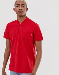 Scotch And Soda Polo Shirt Red