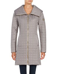 Dawn Levy Gwena Quilted Hooded Walker Coat Beige