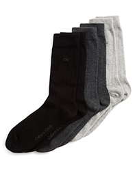 Calvin Klein Hosiery Combed Trouser Socks Set Of 3