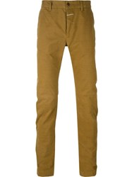 Closed Slim Chino Trousers Green