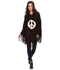 Union Of Angels Canada Poncho Chocolate Women's Coat Brown