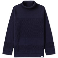 Norse Projects Skagen Roll Neck Knit Blue