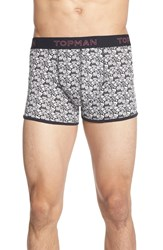 Topman Graffiti Print Boxer Briefs 3 Pack Black Multi
