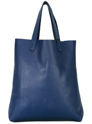 Soulland Shopper Tote Men Leather One Size Blue